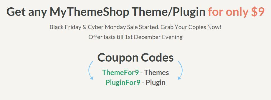 MyThemeShop Coupon Code for Black Friday 2014