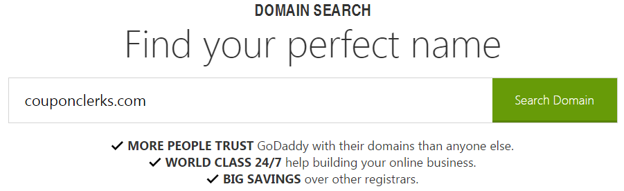 Godaddy discount coupon for domain