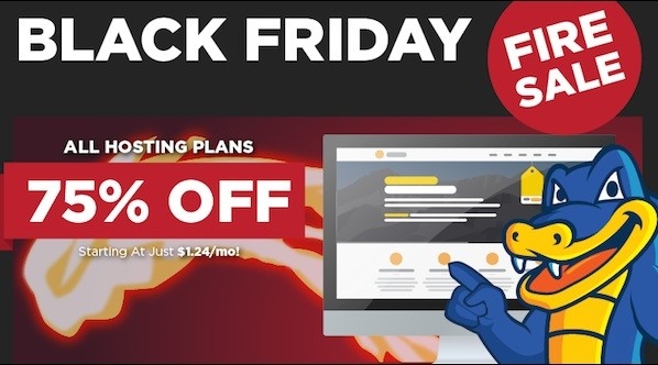 Hostgator special discount 75% on Black Friday 2014