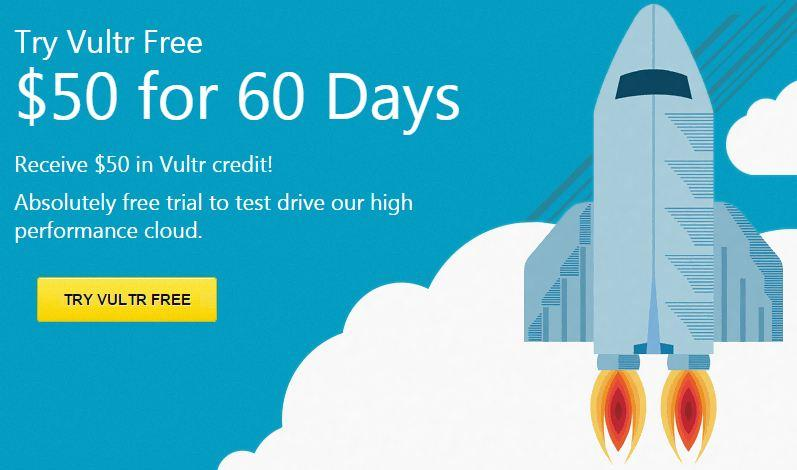 vultr discount vps free $50 in 60 days