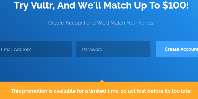 Vultr coupon 2018